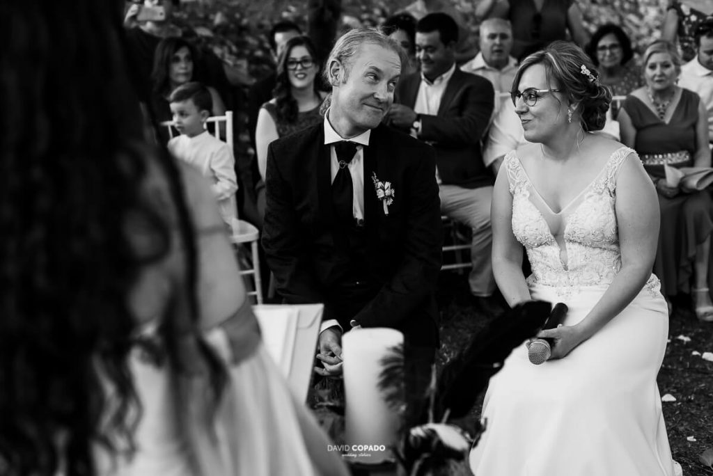 Miradas novios - Fotógrafo de bodas en Ciudad Real - Ángel y Vicen - David Copado