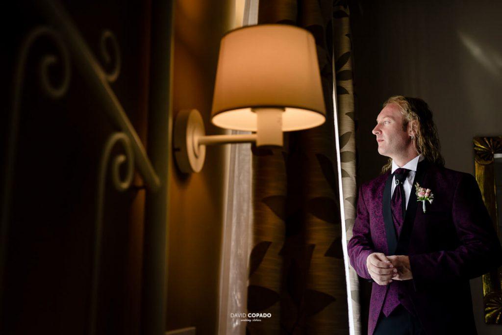 Novio preparado - Fotógrafo de bodas en Ciudad Real - Ángel y Vicen - David Copado