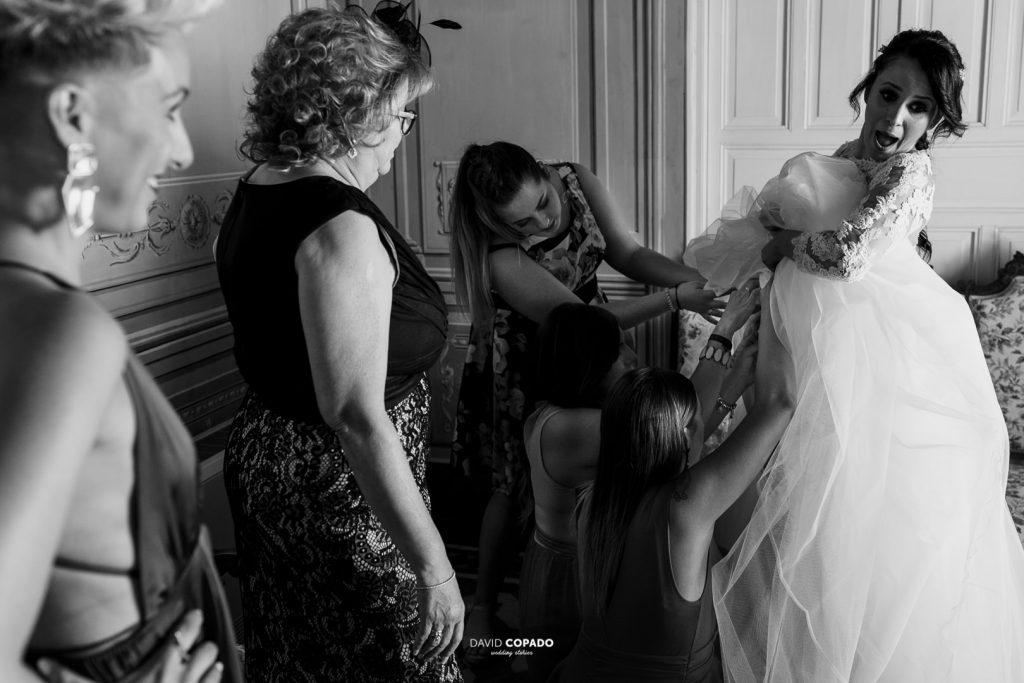 Preparativos con las mujeres - Fotógrafo de bodas en Ciudad Real - María Jesús y Álex - David Copado