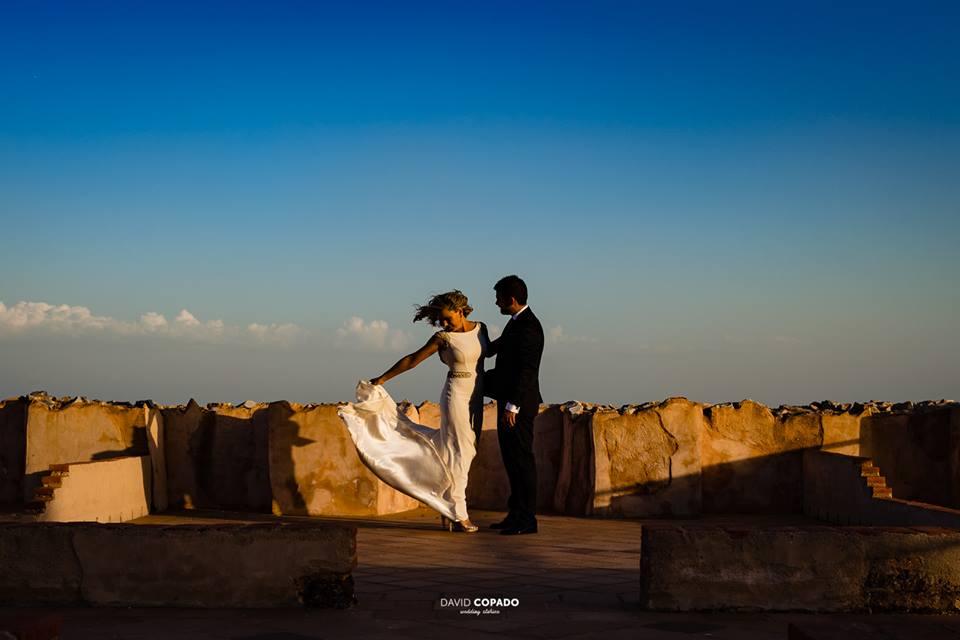 Novios en la sesión a solas - Fotógrafo de bodas Ciudad Real - David Copado