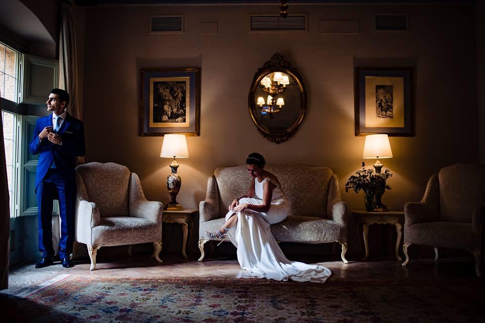 Novios tras la boda - Fotógrafo de bodas Ciudad Real - David Copado